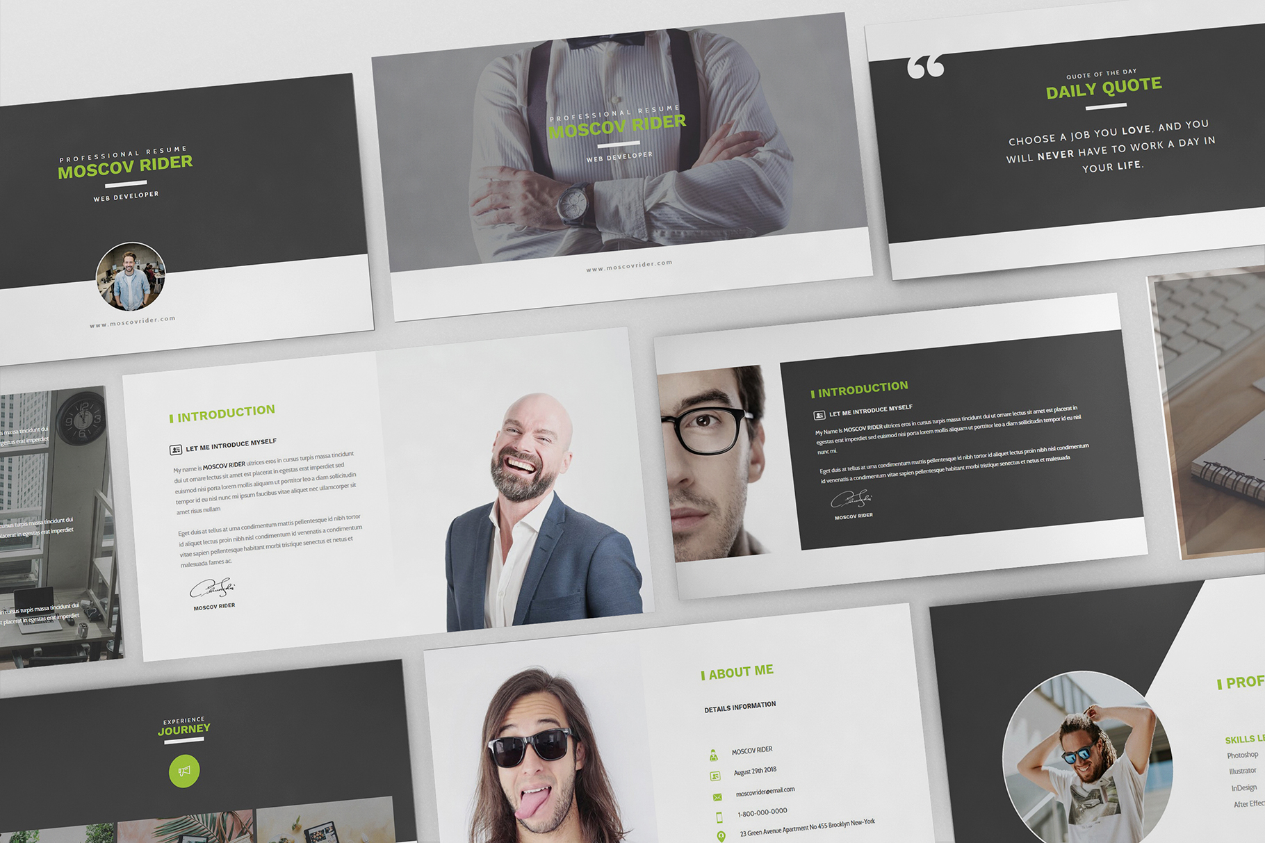 Resume CV Powerpoint Template example image 2