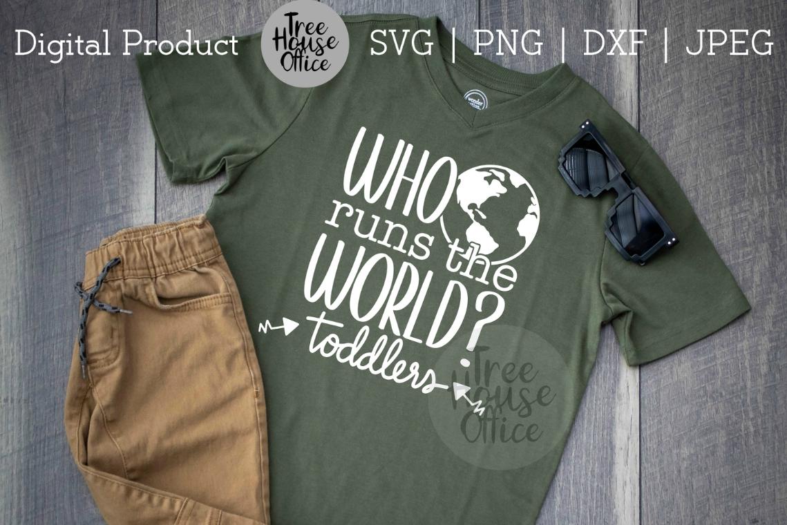 Who Runs the World? Funny Mom Shirt, Sassy Mom SVG PNG JPG example image 3