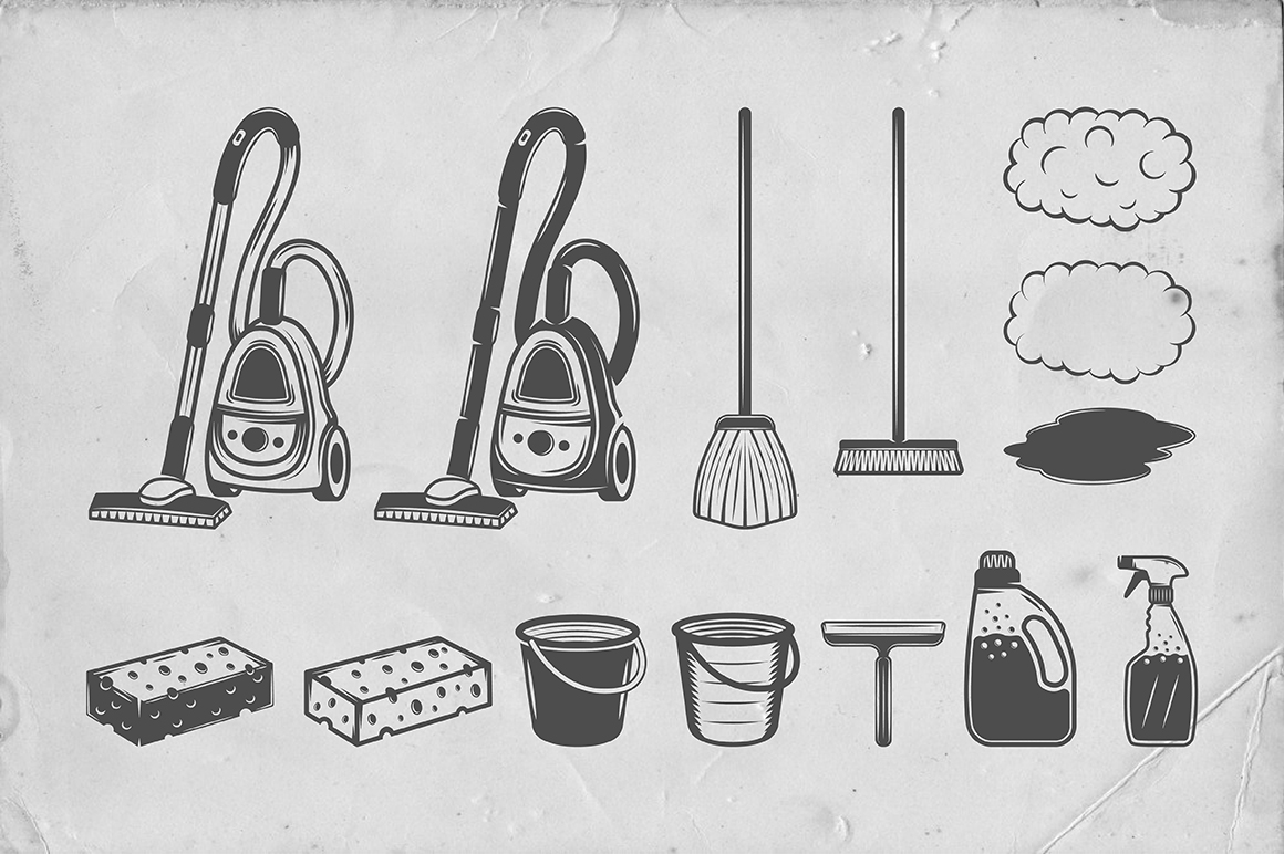 Set of Vintage Cleaning Emblems example image 3
