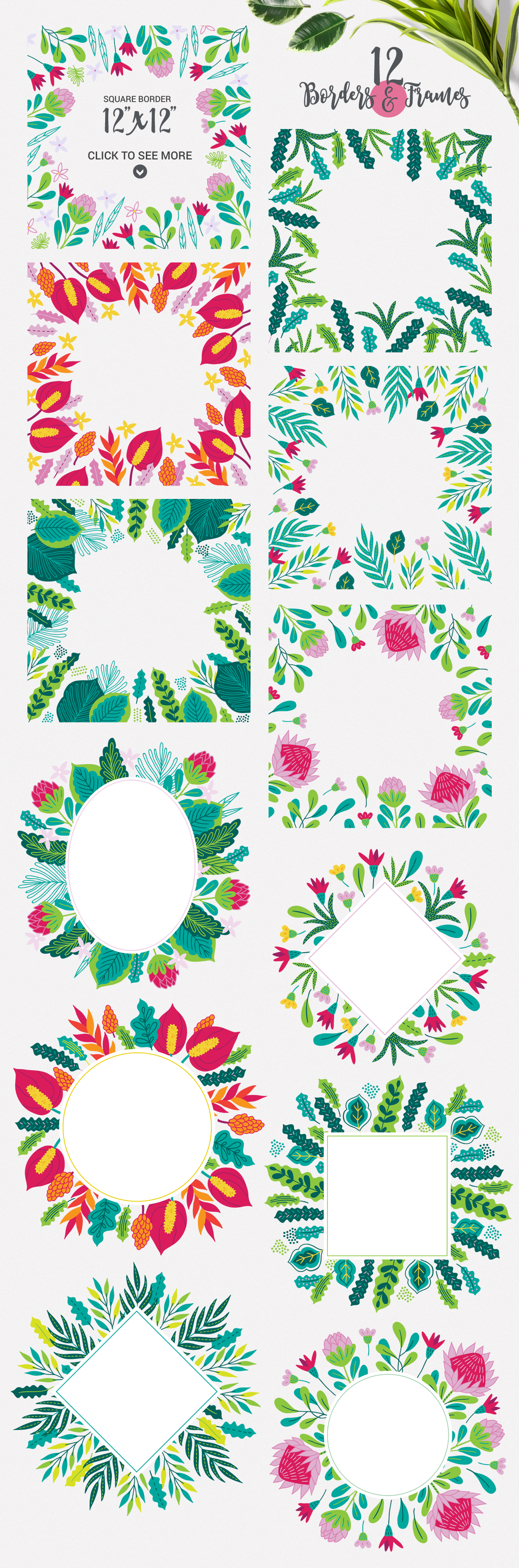 Tropical Flora KIt example image 3