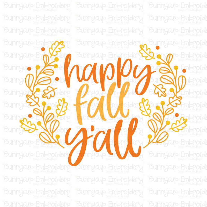 Happy Fall Y'All - SVG, Clipart, Printable example image 2