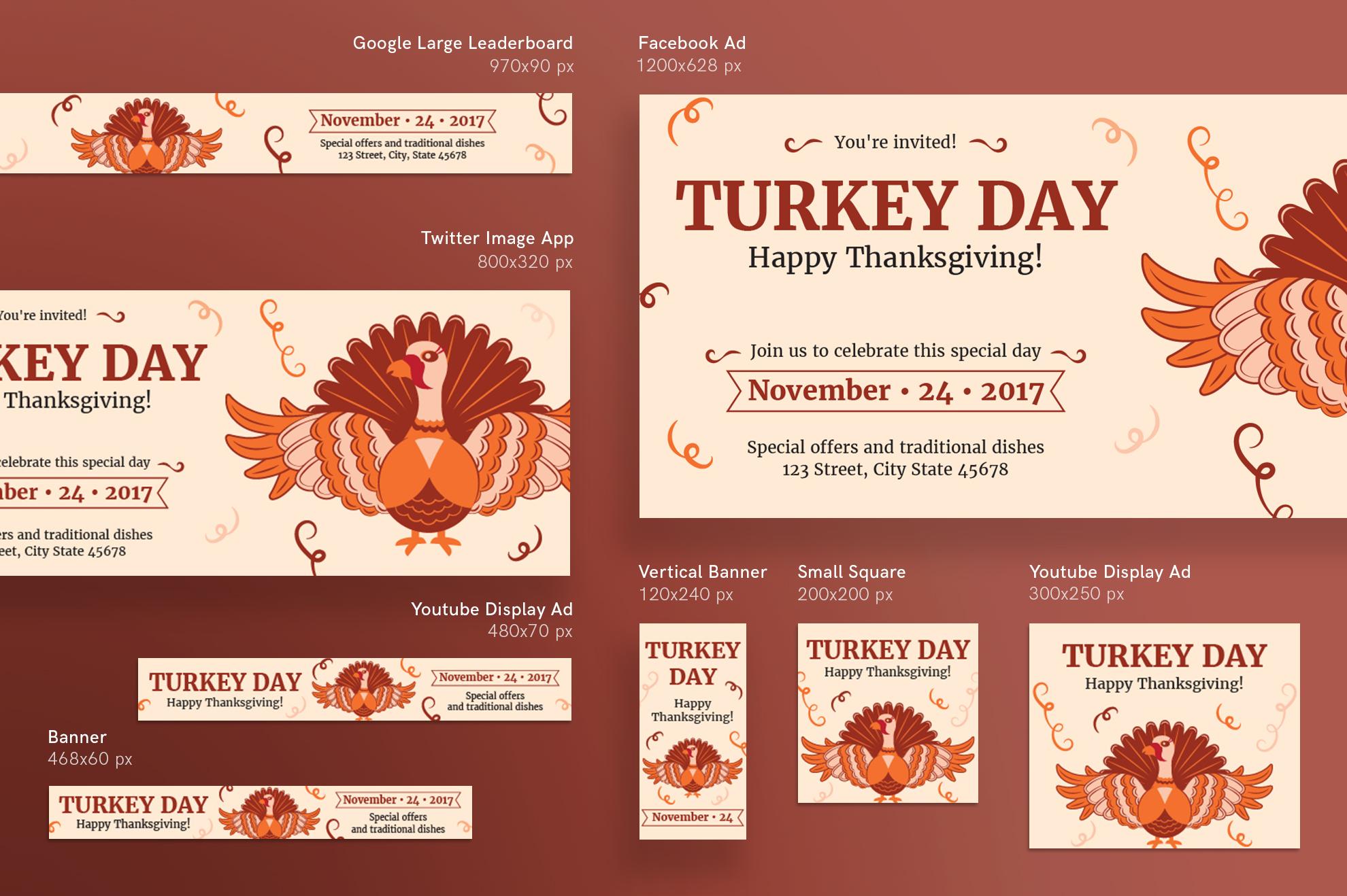 Thanksgiving Celebration Design Templates Bundle example image 6