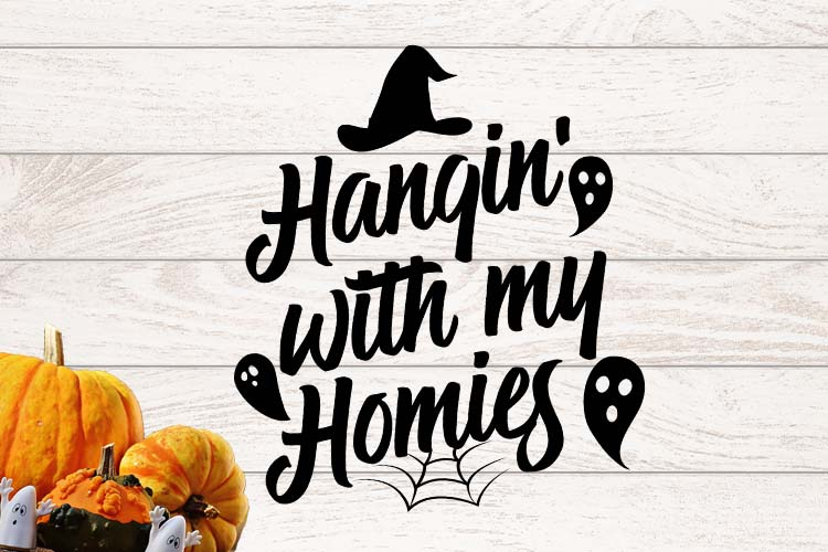 Hangin' with homies Halloween SVG example image 1