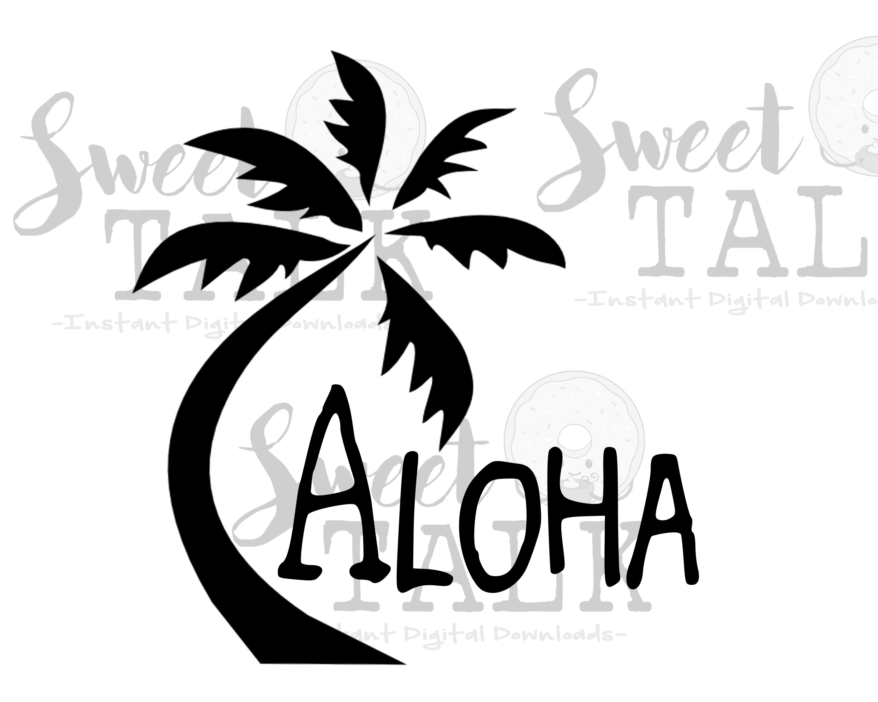 Aloha Palm tree-Instant digital download