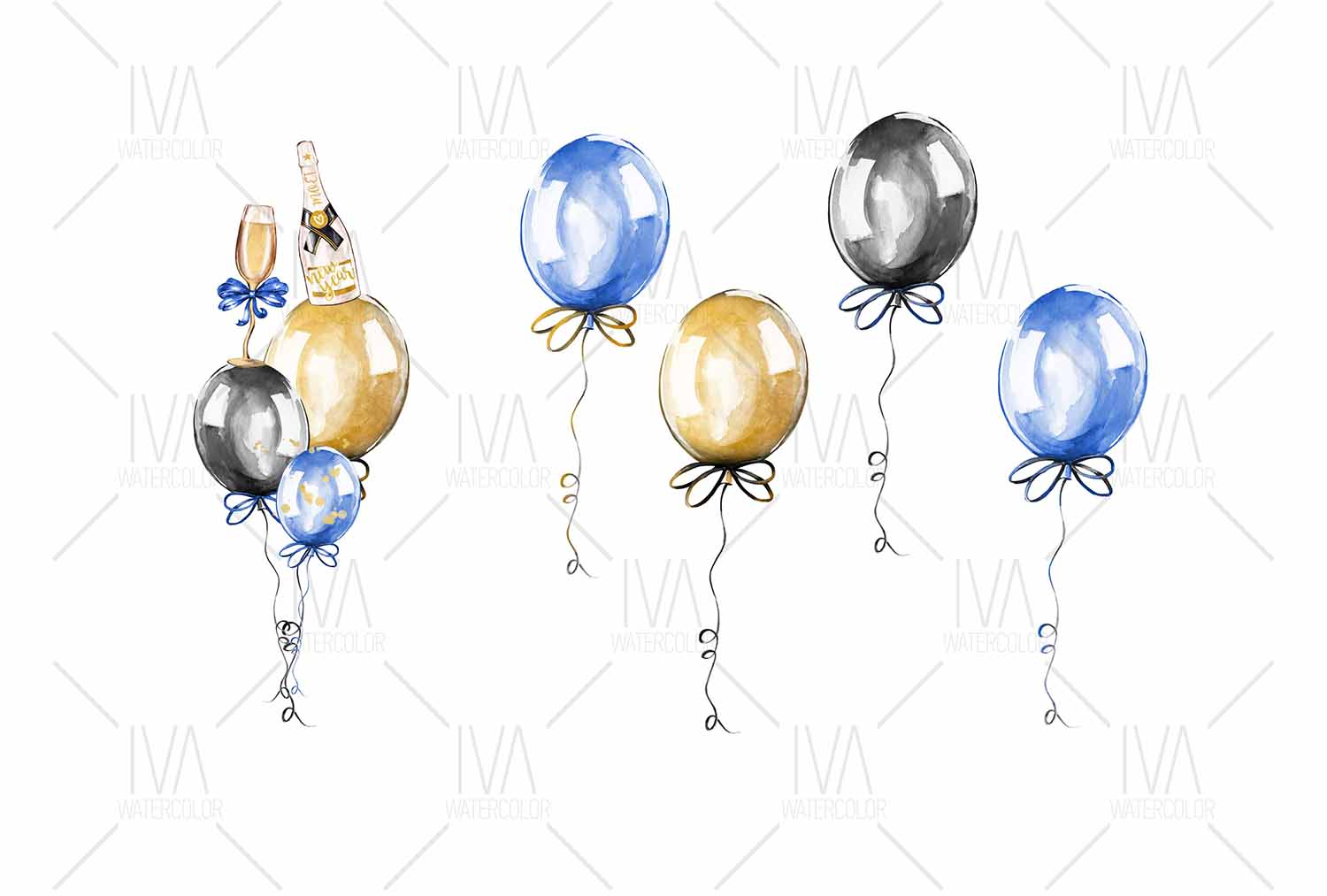 New Year's Eve Clipart example image 5