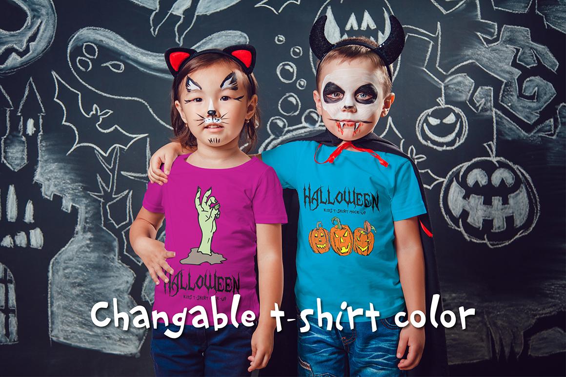 Halloween Kids T-Shirt Mock-Up example image 4
