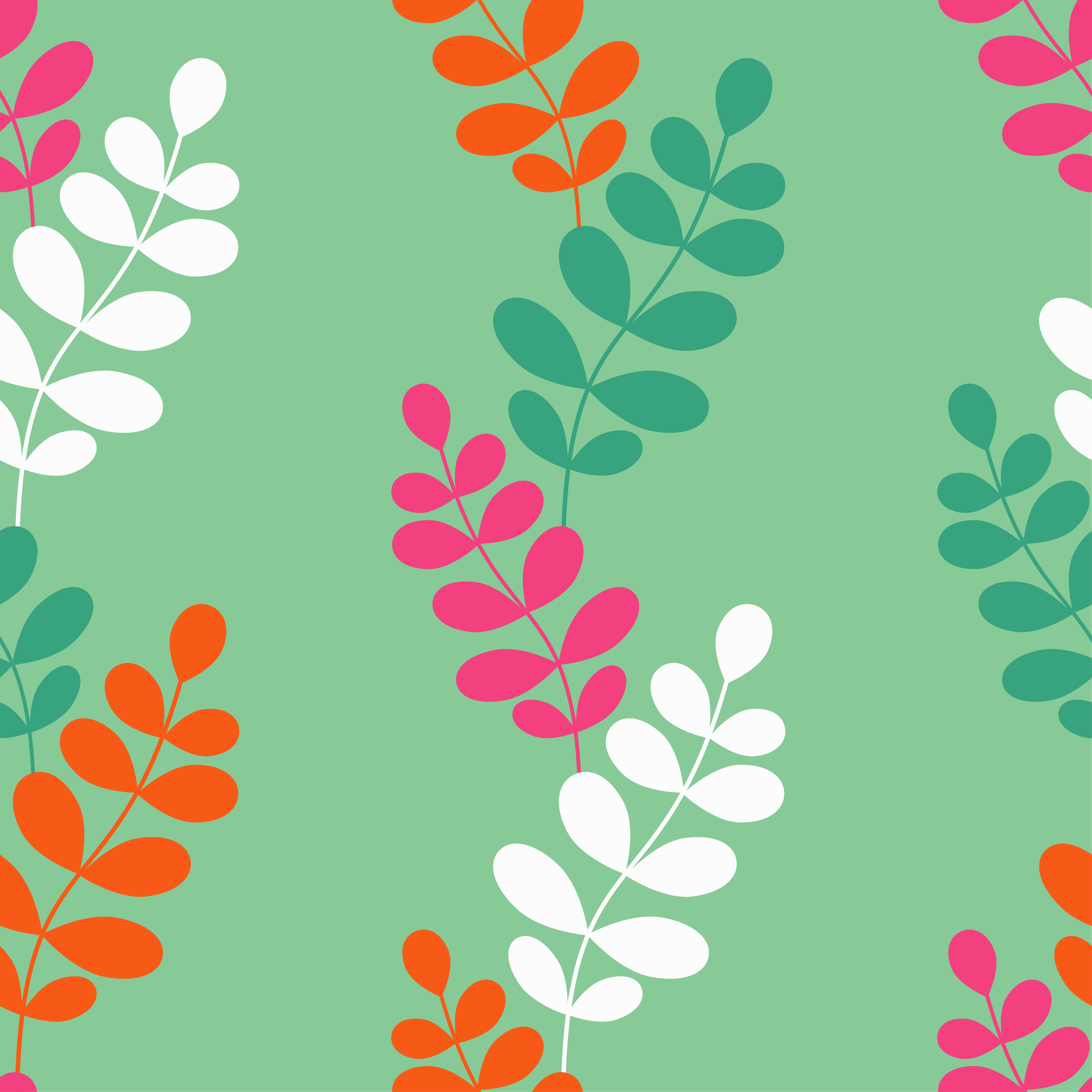 Seamless vector background with decorative branche and leaves. Pattern with plants. example image 4