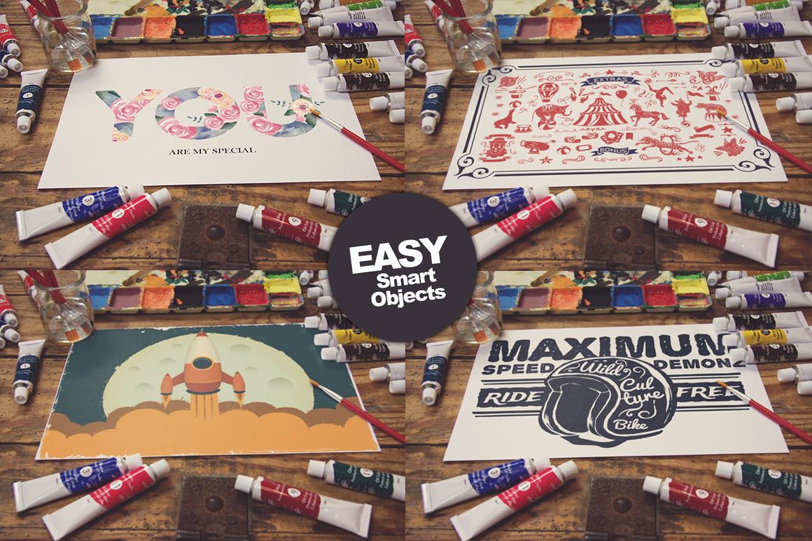 50 Art Mockups Bundle -60OFF example image 8