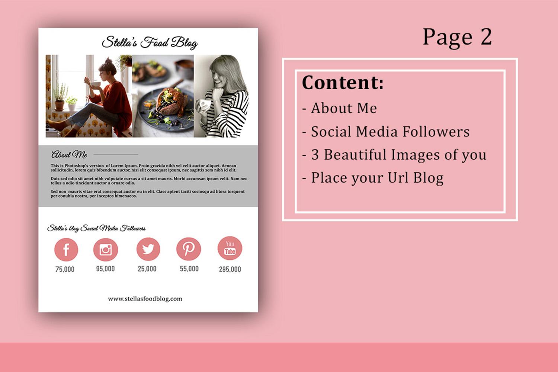 Influencer Food Media Kit Template - Sponsorships For Blogs example image 3