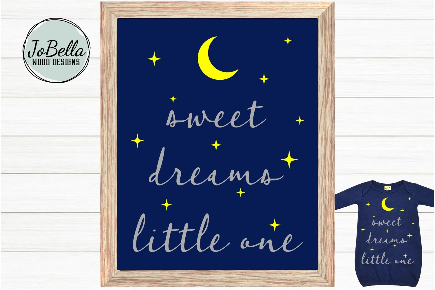 Baby SVG and Printable- Sweet Dreams Little One Moon & Stars example image 2