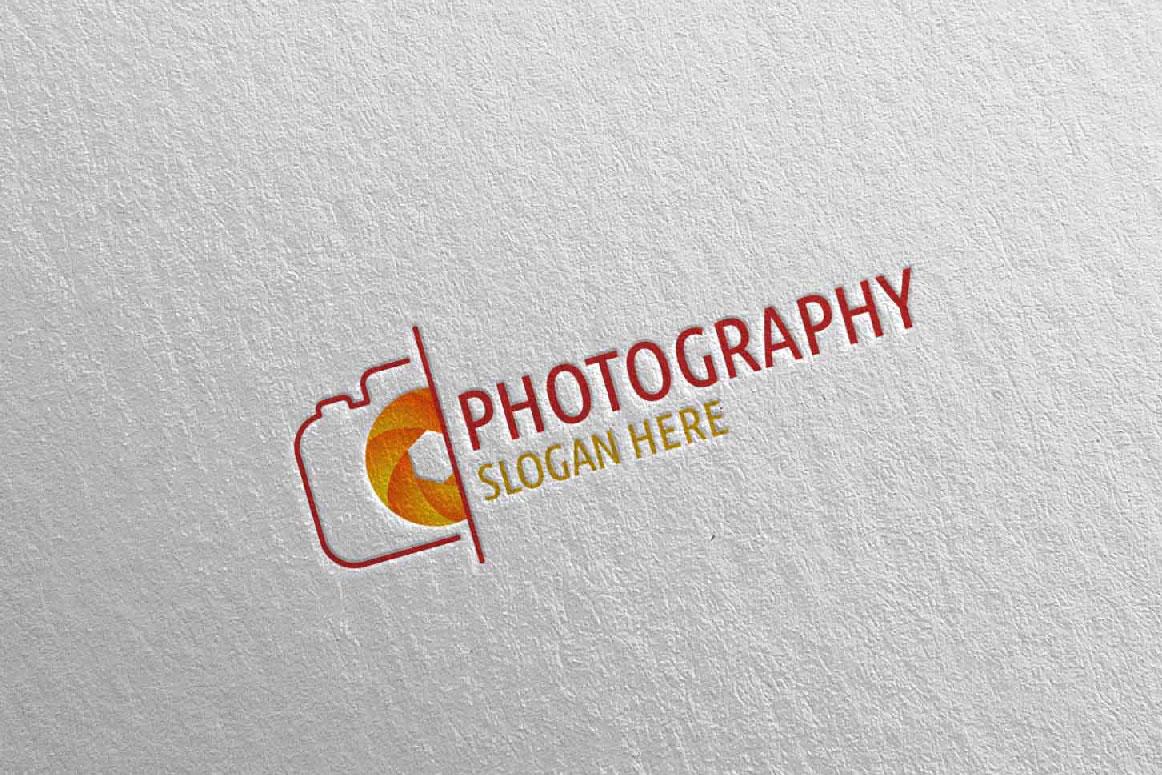 Abstract Camera Photography Logo 5 example image 3