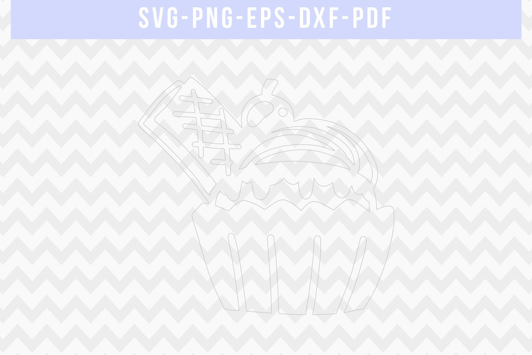 Waffel Cupcake Papercut Template, Birthday Cut File SVG PDF example image 3