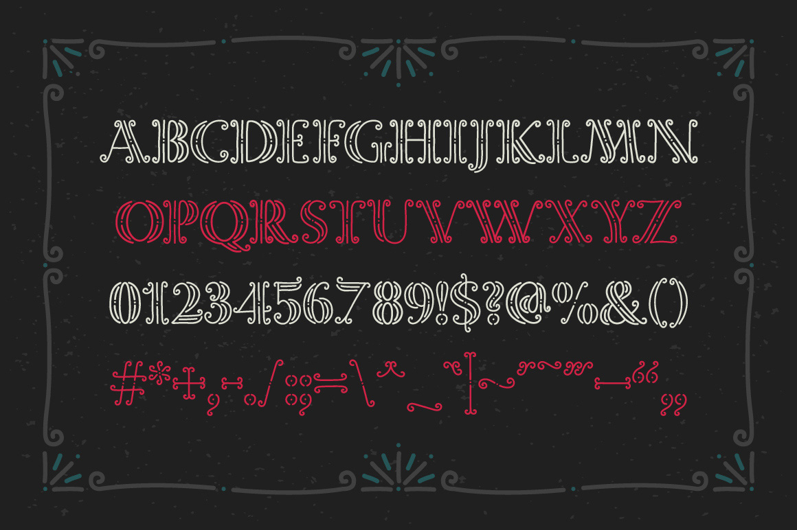 Magic Curls font example image 4