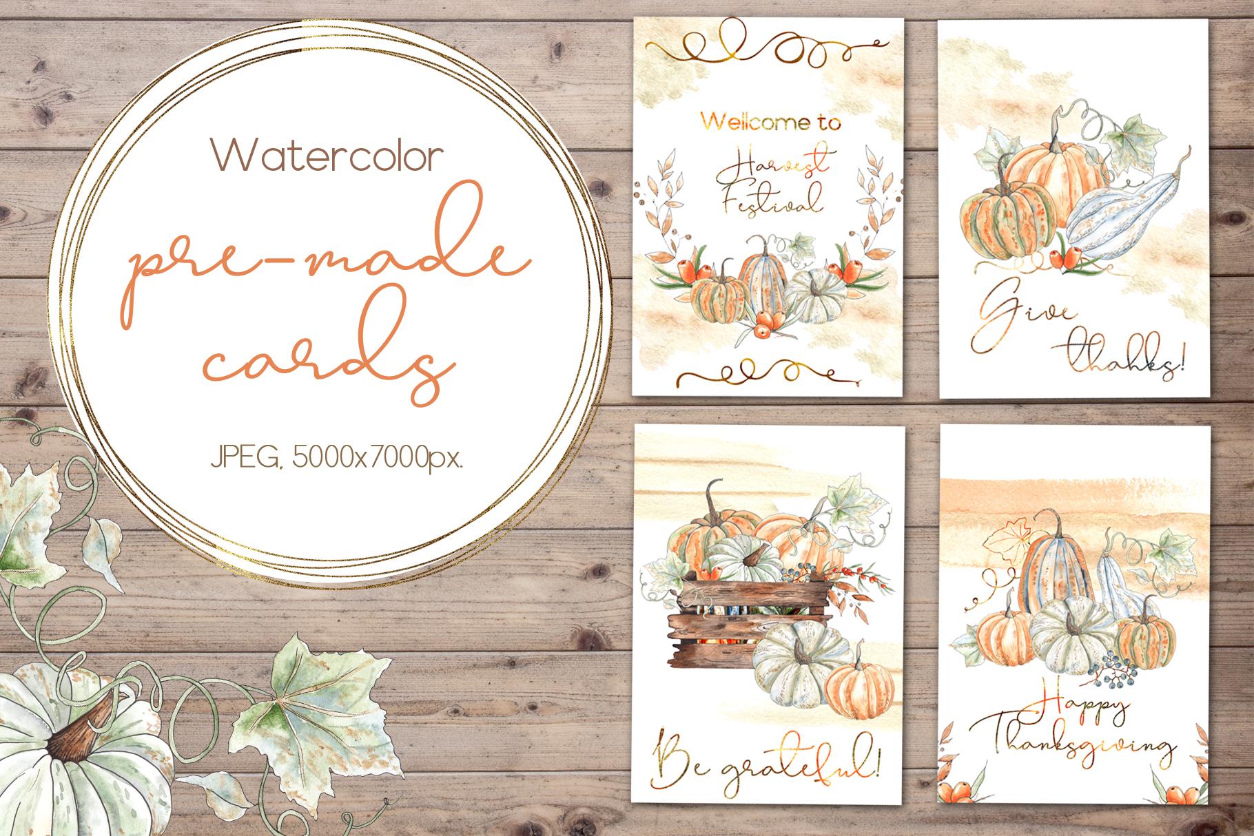 Watercolor autumn BUNDLE example image 13