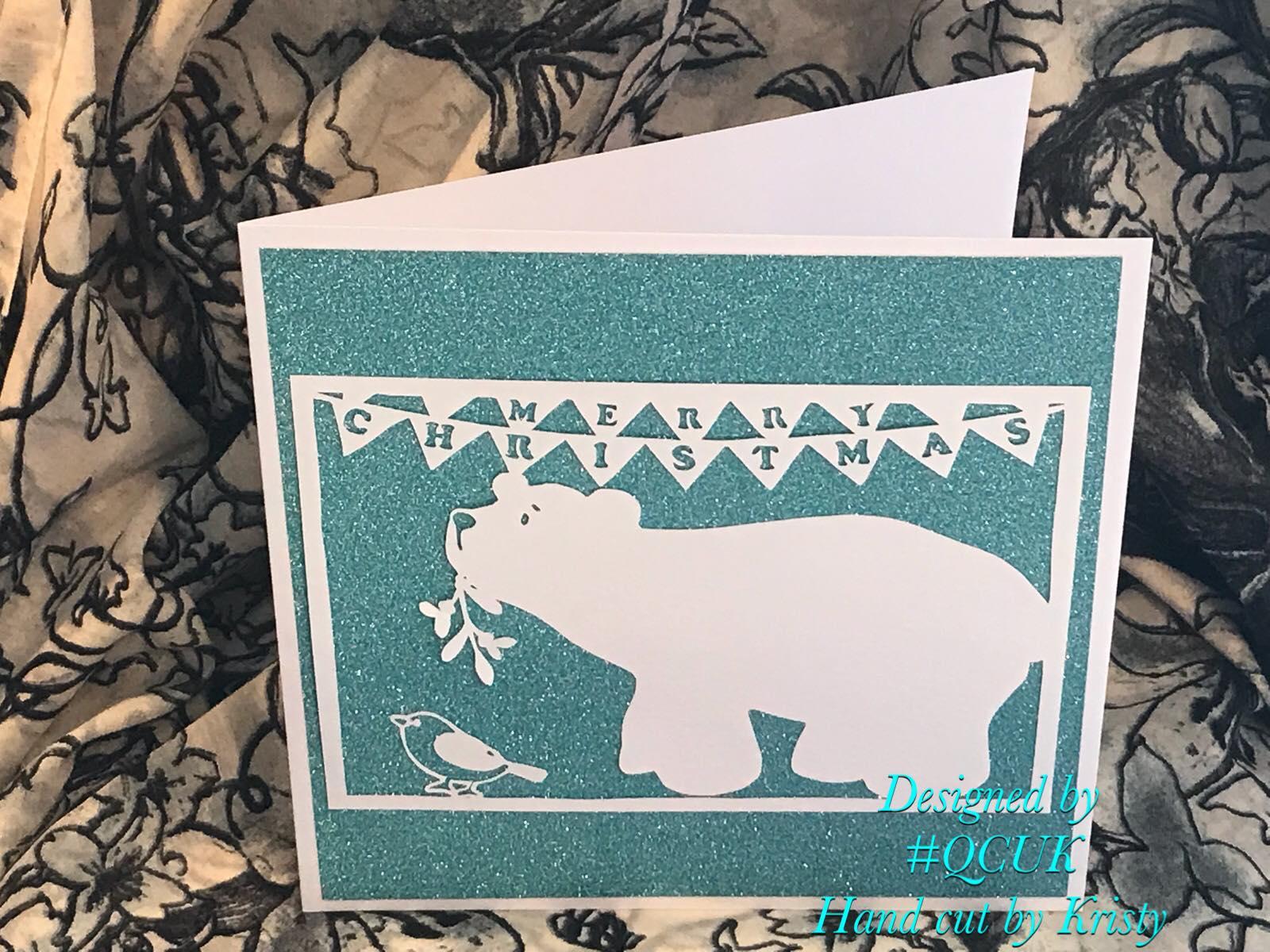 Bird and Bear's Xmas Collection x 8 papercutting templates example image 3