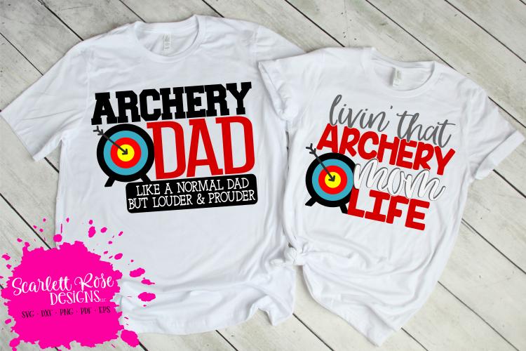 Archery Mom SVG - Archery Dad SVG Bundle example image 1