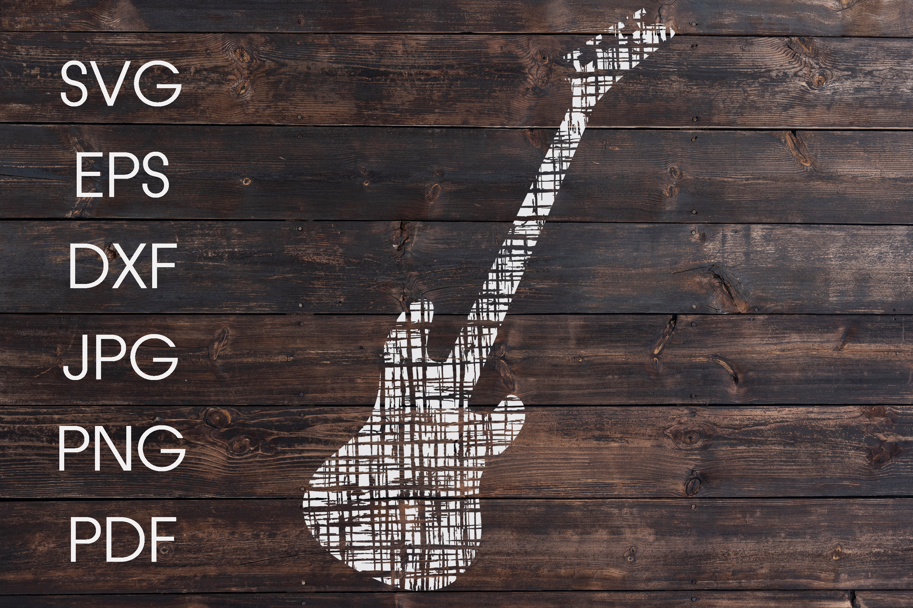 Guitar SVG | Distressed guitar SVG example image 1