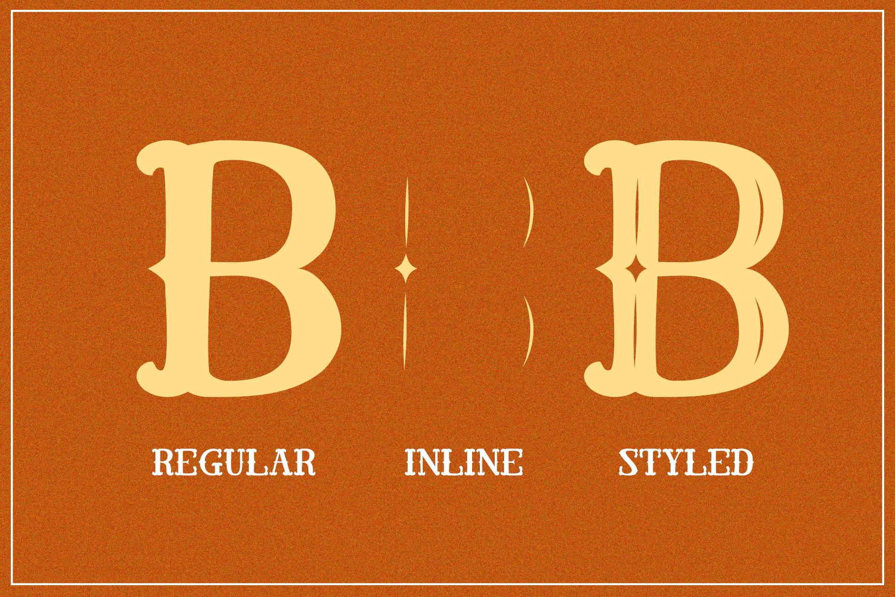 El Cabestor - Vintage Display Typeface & EXTRA example image 2