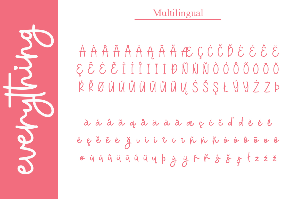 everything script font example image 6