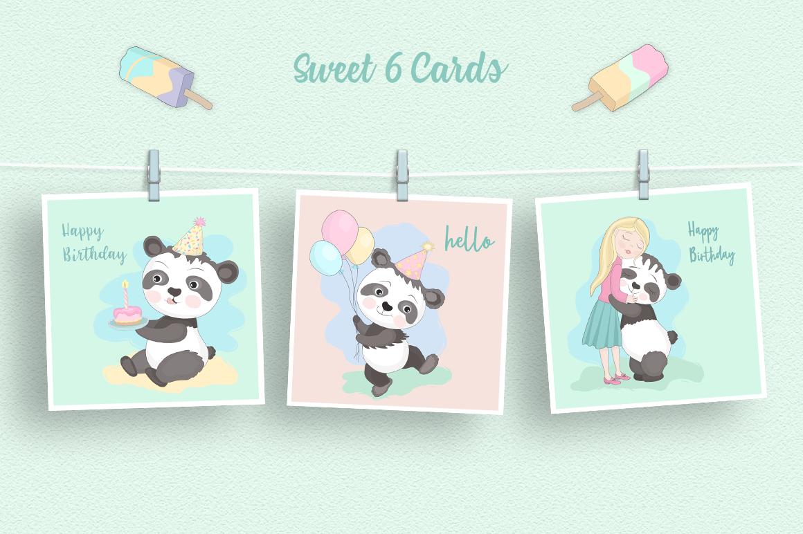 Panda Party Illustration Set example image 2