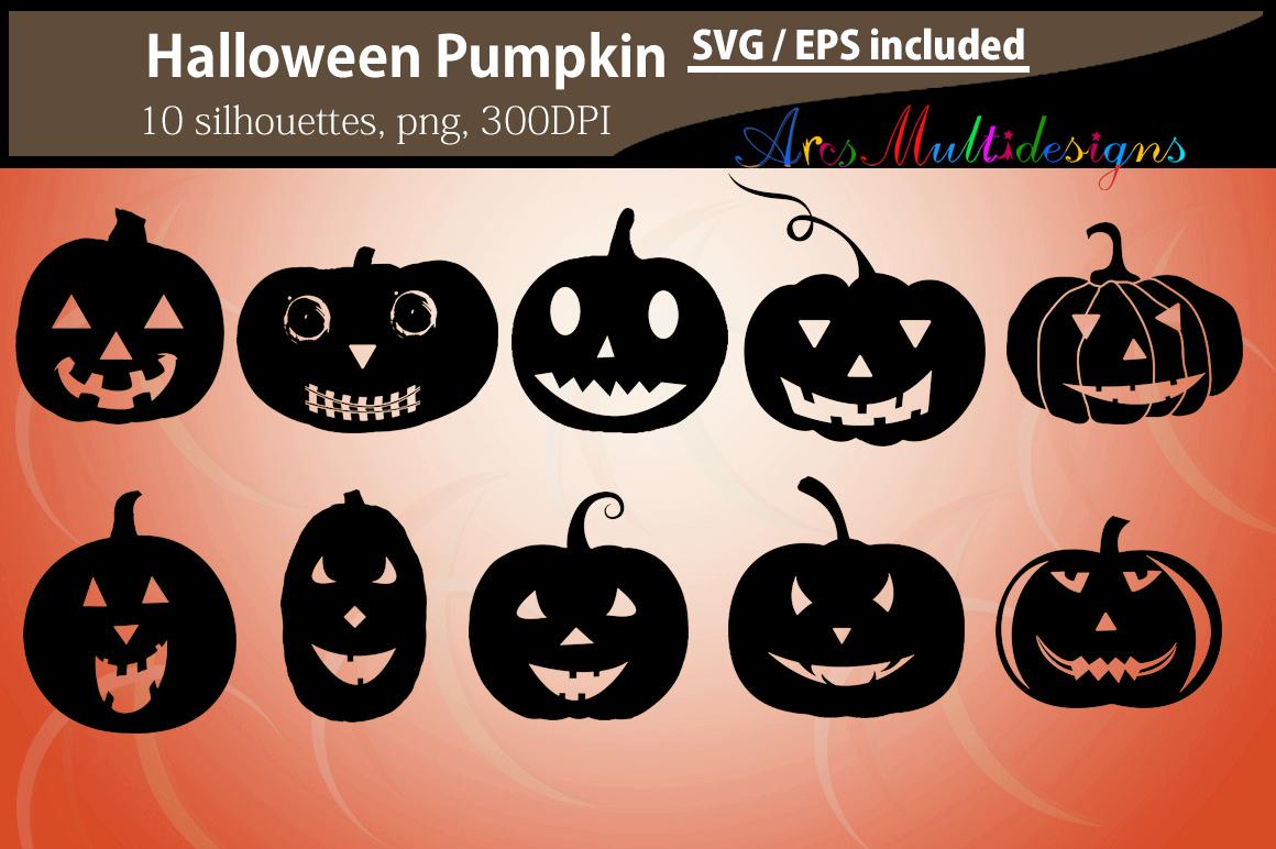 Pumpkin silhouettes SVG / Printable Halloween pumpkin EPS / Halloween day clipart / Pumpkin / HQ silhouettes PNG vector / pumpkin svg example image 2