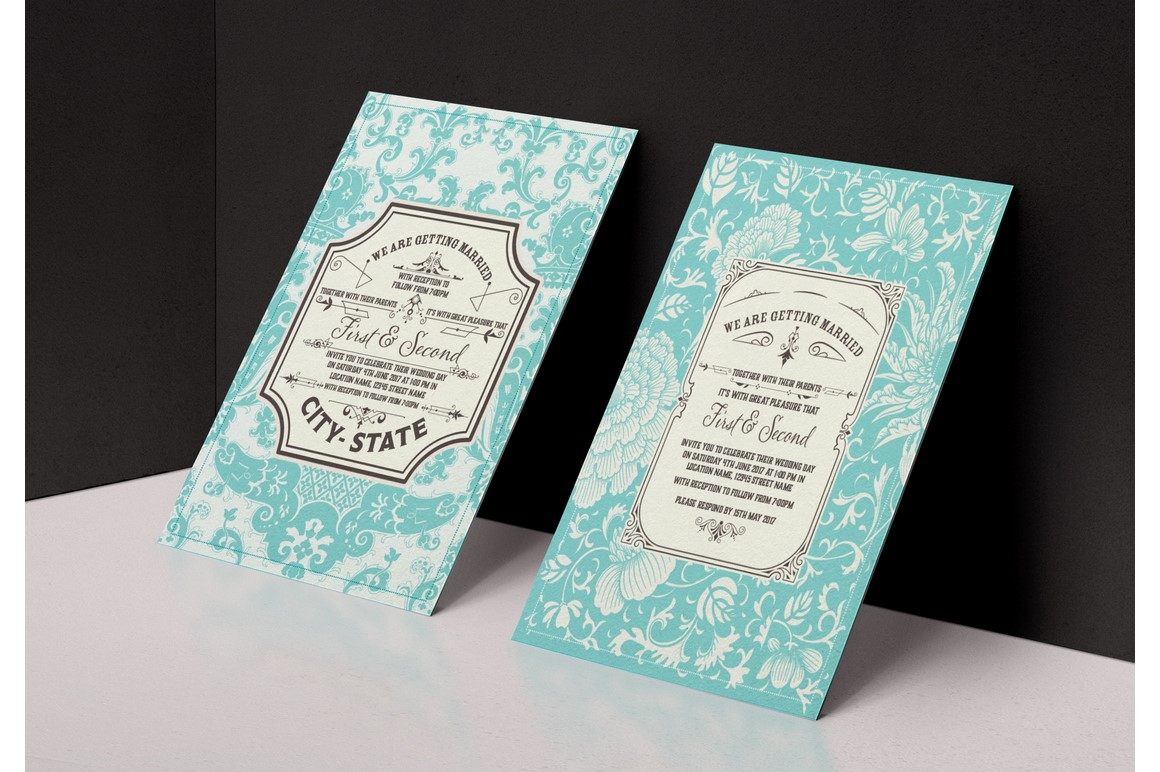 Vintage Wedding Invitation example image 1