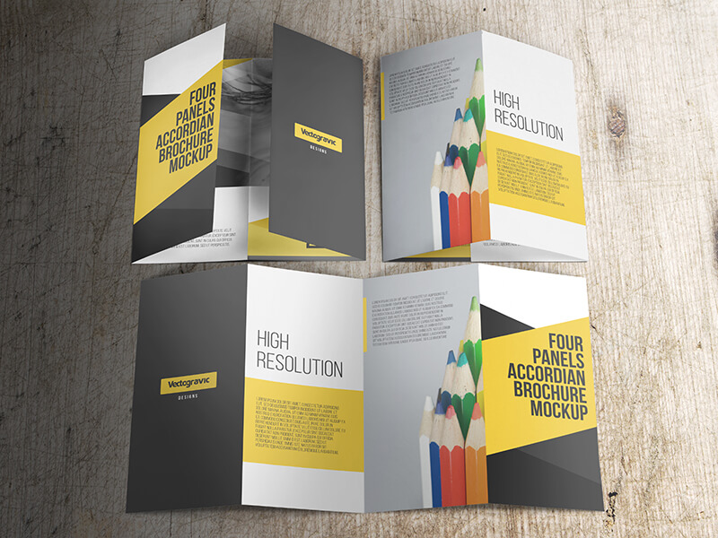 FOUR PANELS ACCORDION BROCHURE MOCKUPS example image 2