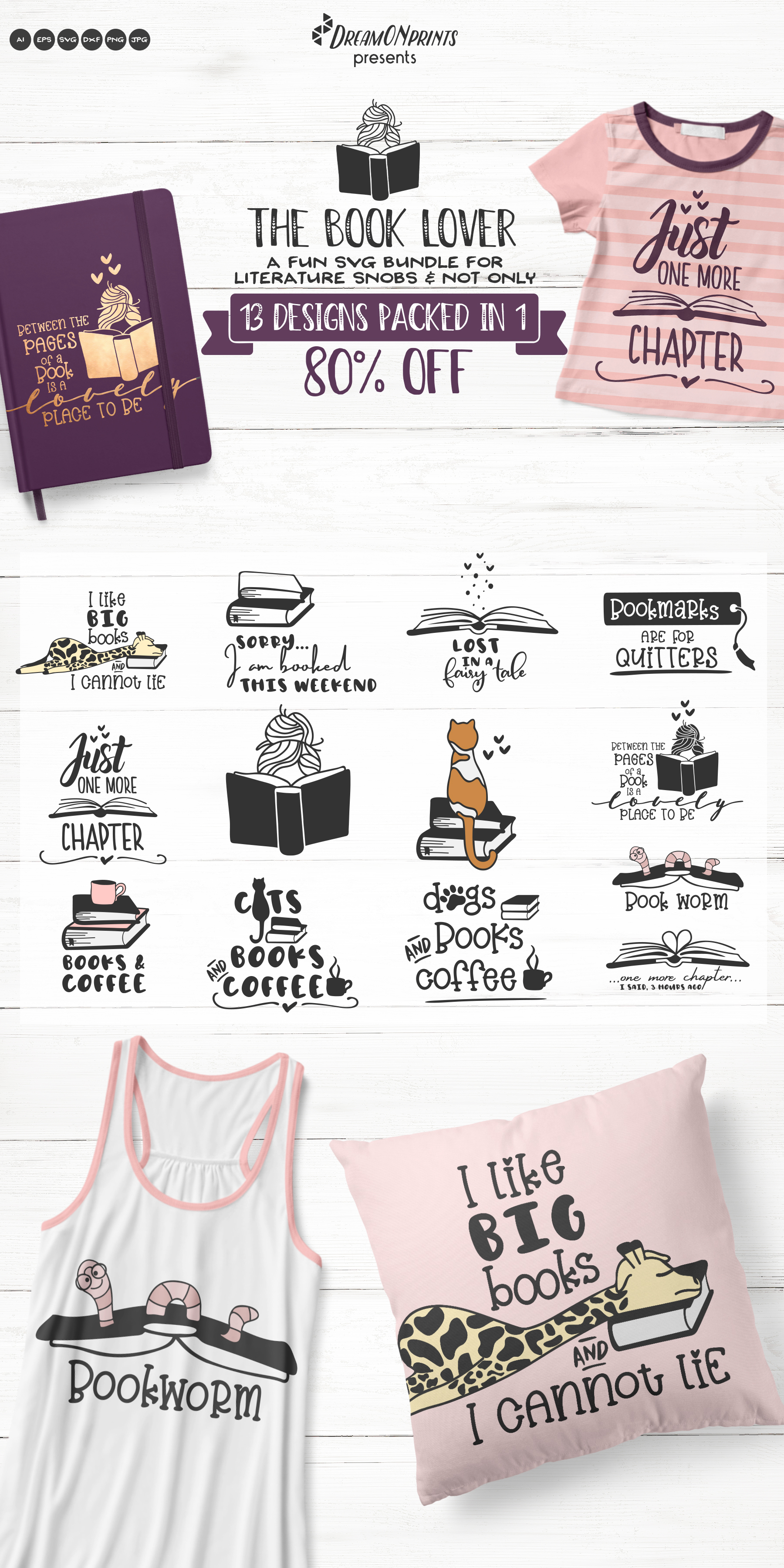 The Book Lover | Funny SVG Bundle example image 16