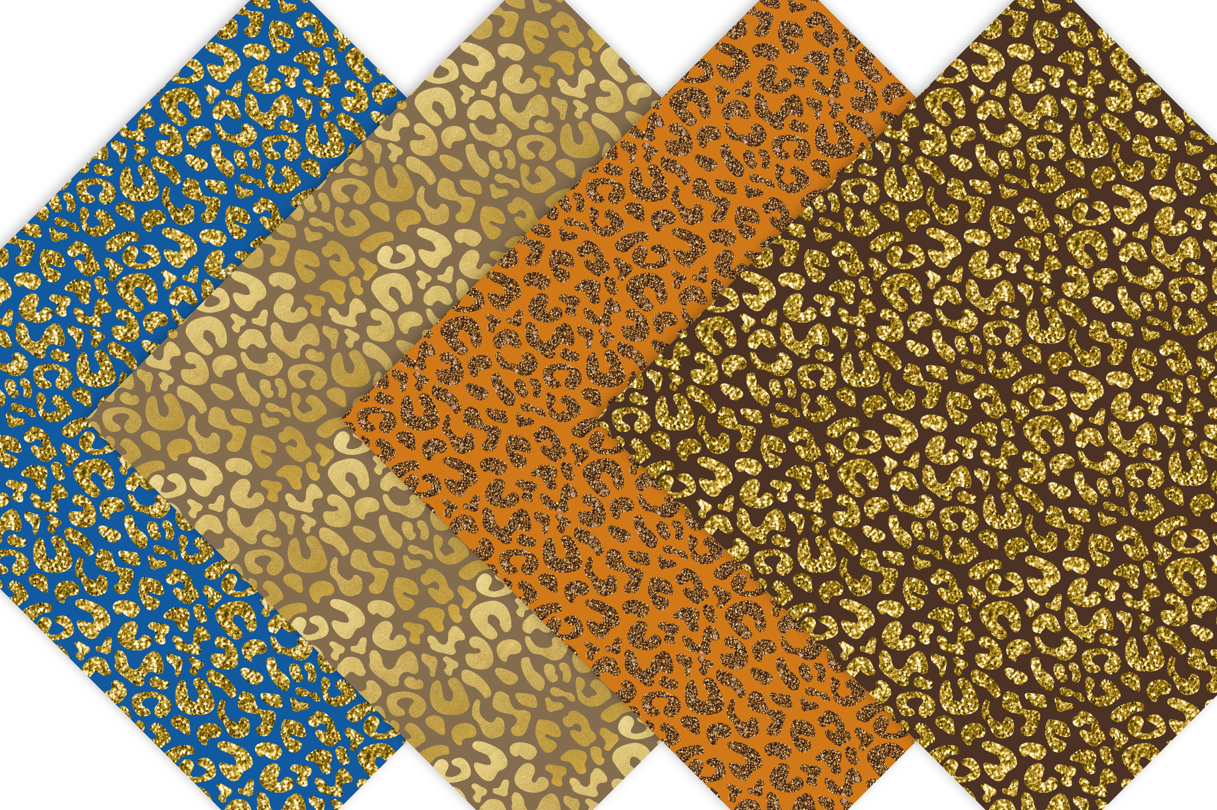 Gold & Glitter Cheetah Paper Pack example image 3