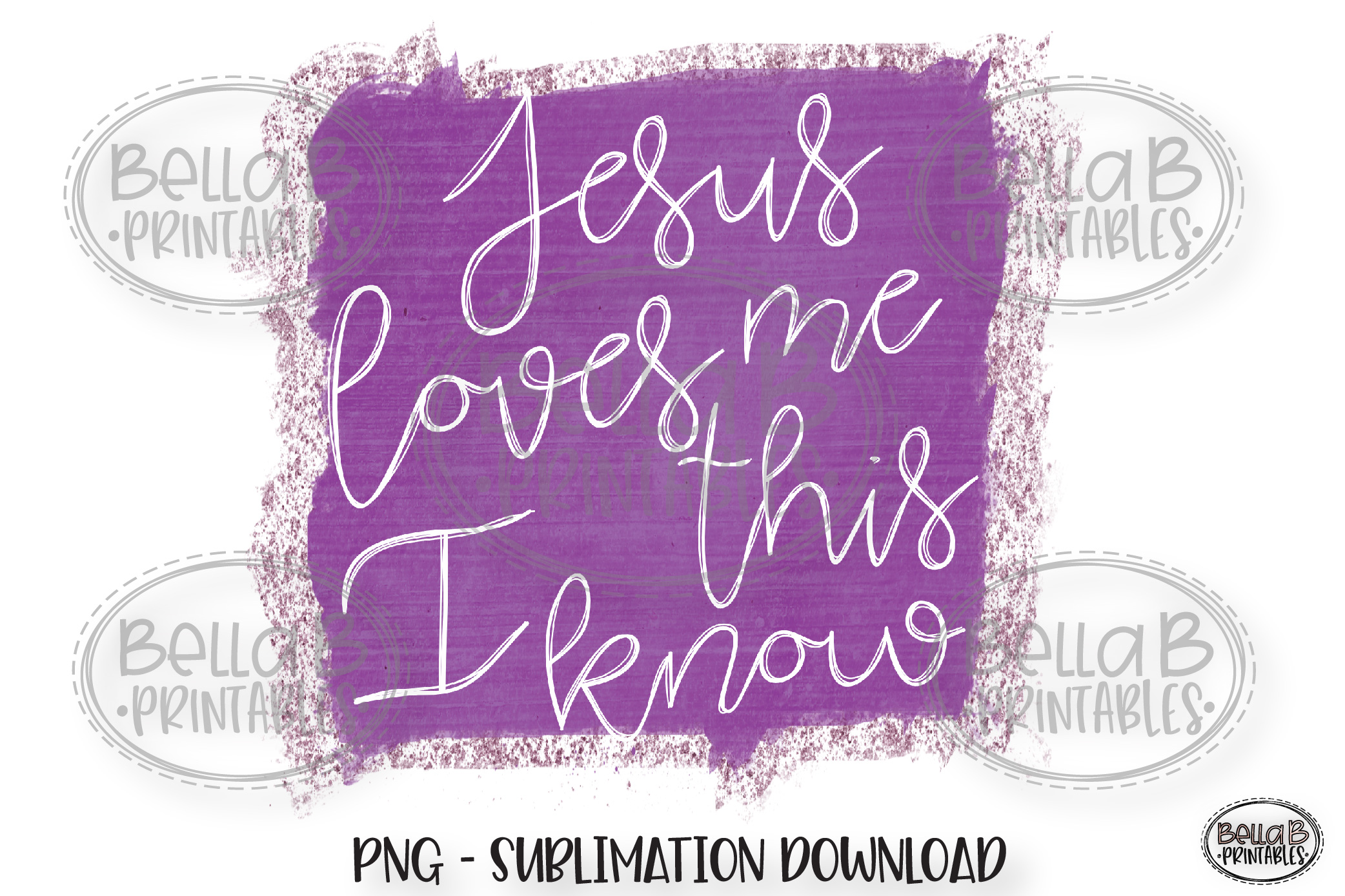 Christian Sublimation Design, Jesus Loves Me This I Know example image 1