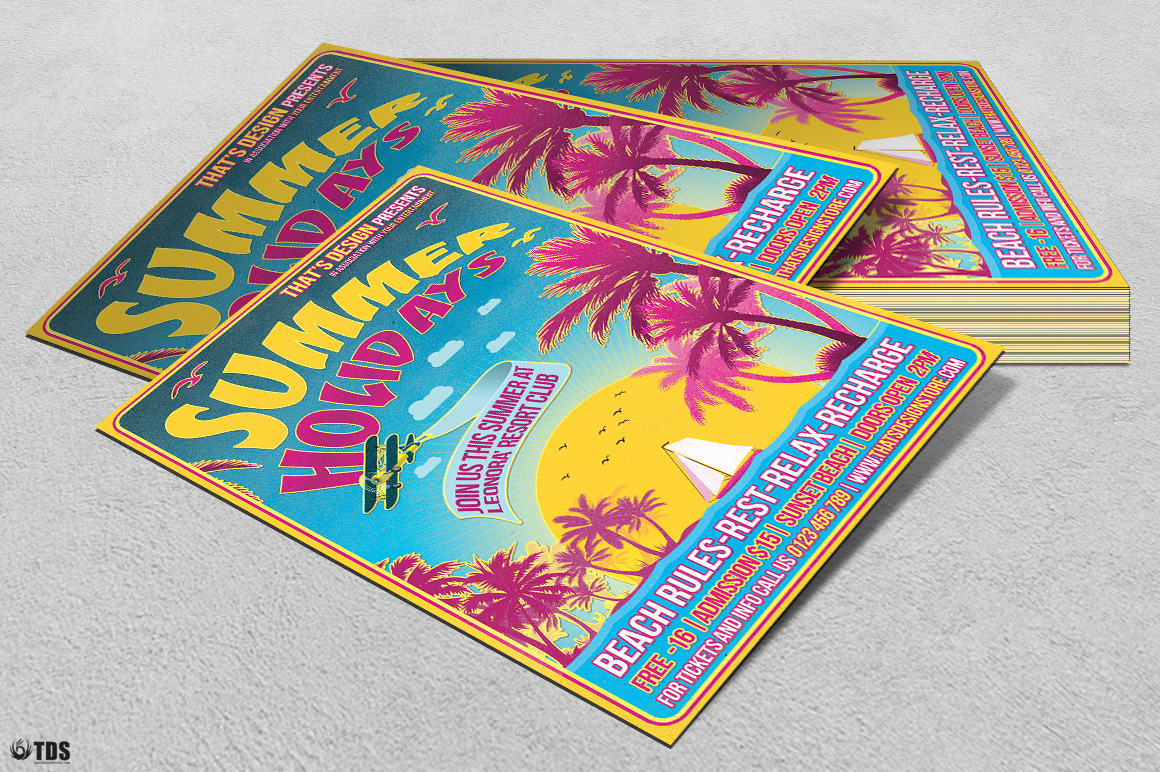 Summer Holidays Flyer Template V2 example image 6
