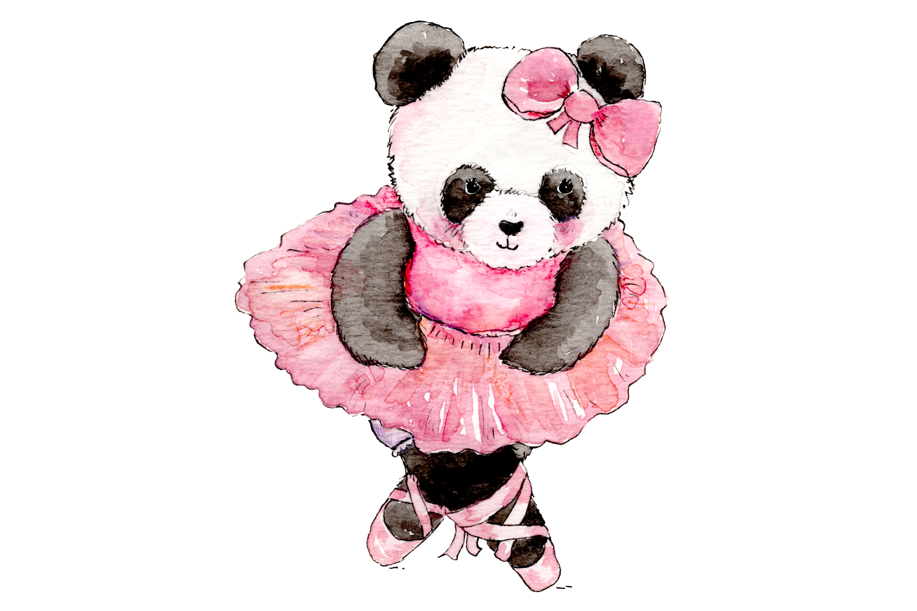 Watercolor Ballet Animals | 8 Clip Art Illustrations-PNG/JPG example image 6
