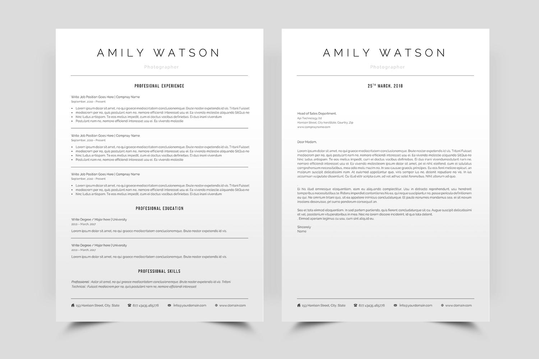 Minimal Resume in Word example image 1