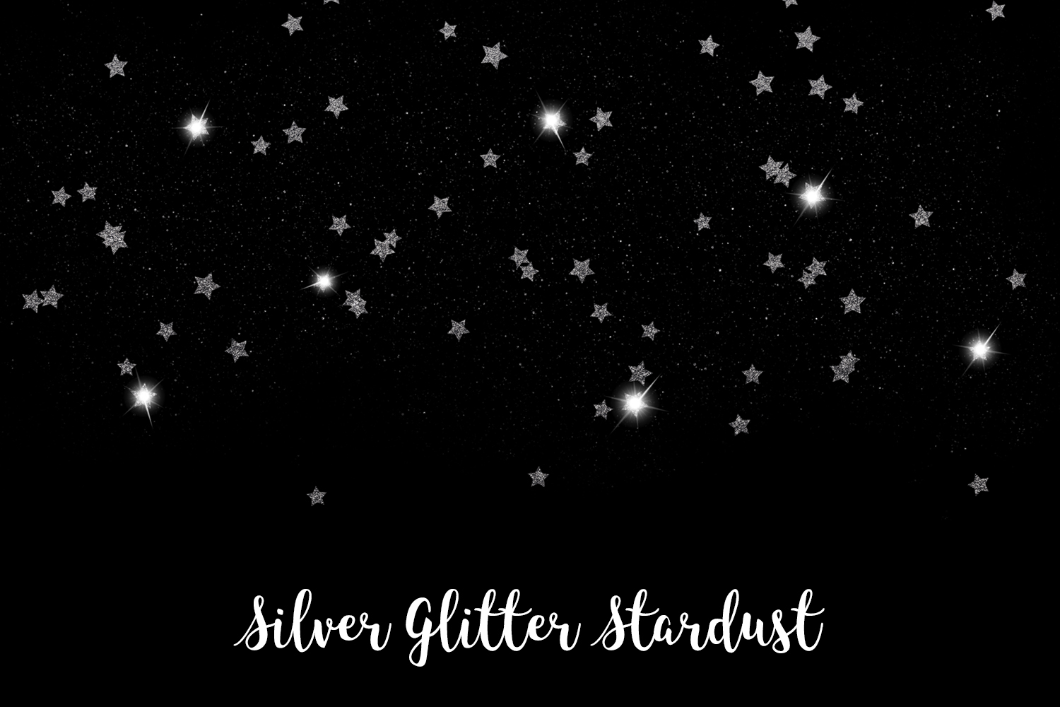 Silver Glitter Stardust, Transparent PNG example image 13