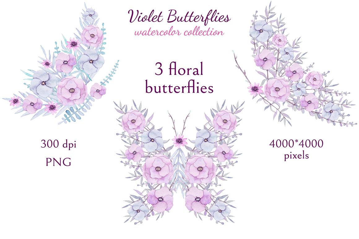 Violet Butterflies example image 3