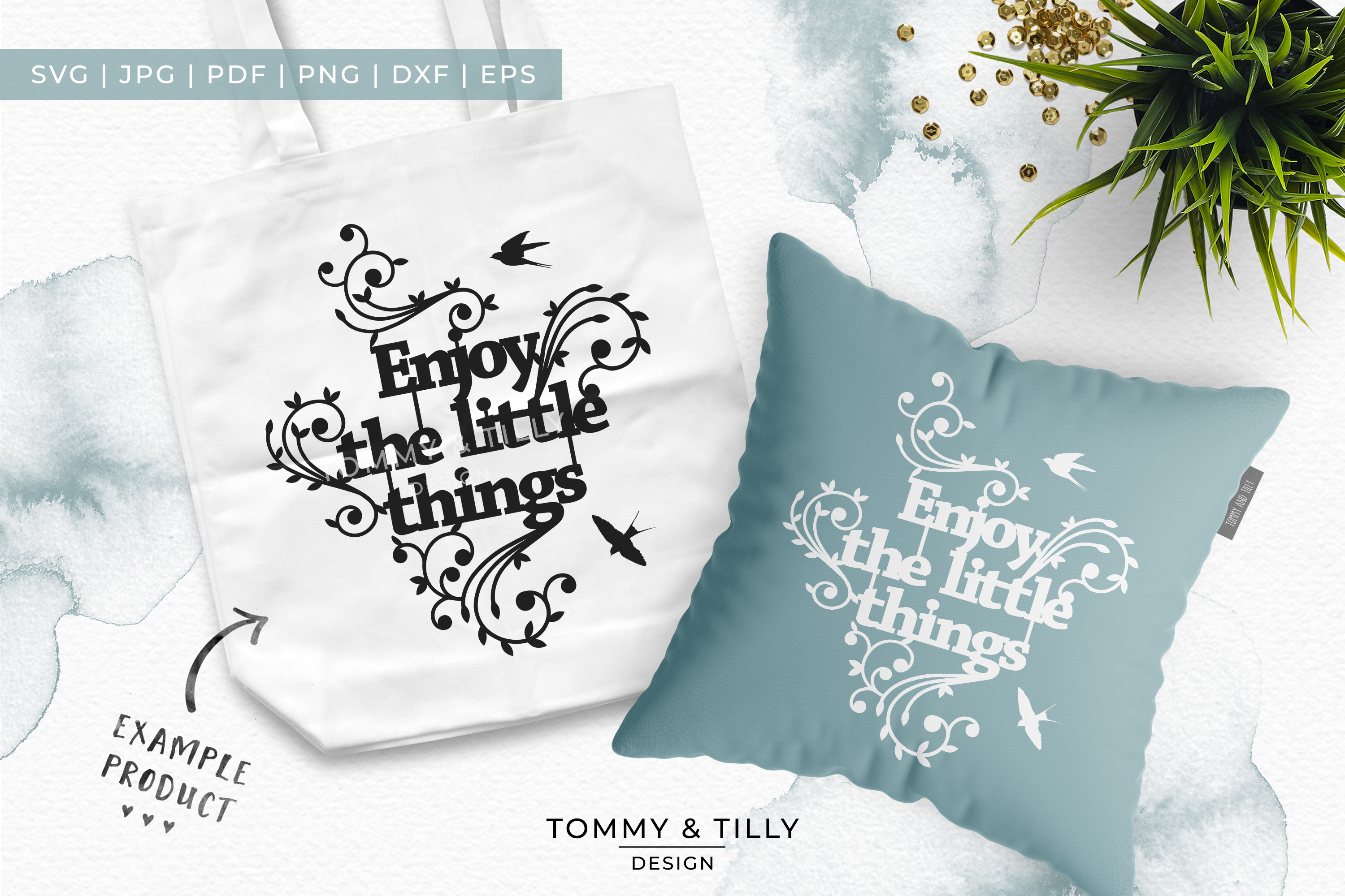 Enjoy the little things - Papercut SVG EPS DXF PNG PDF example image 2