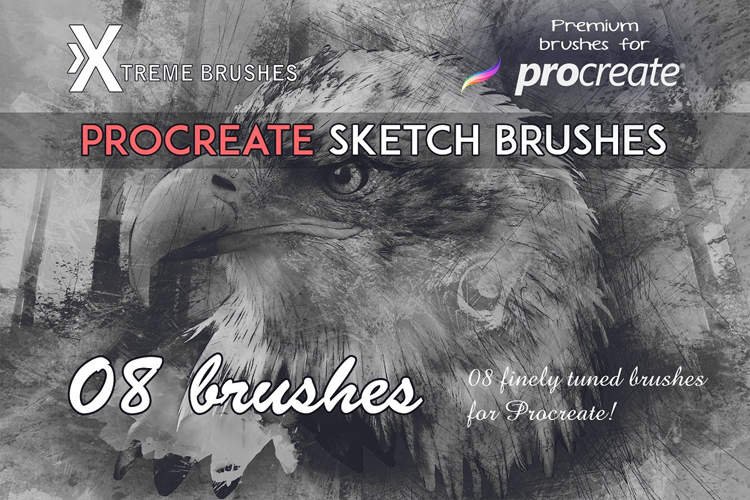 Procreate Sketch Brushes example image 1