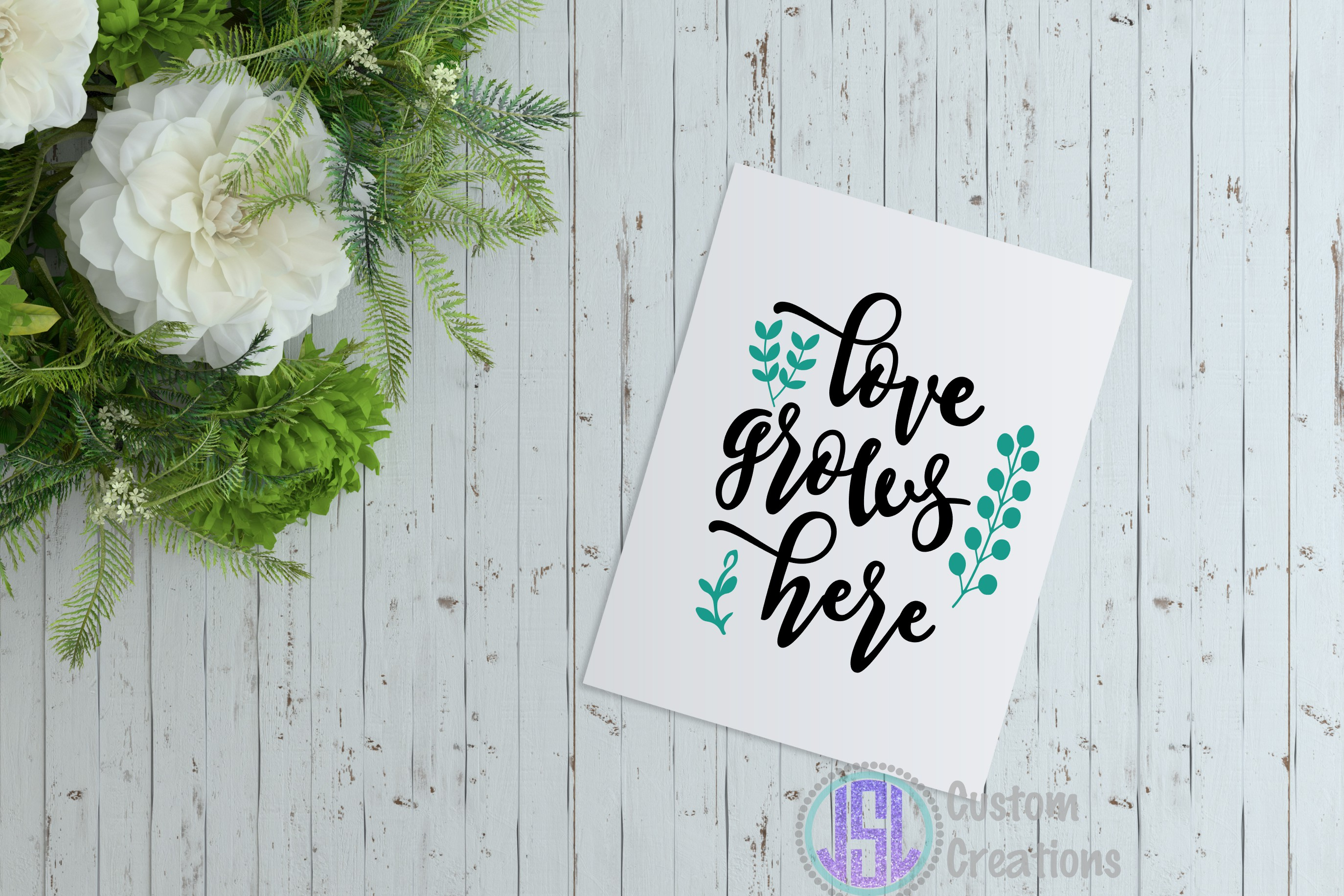 Love Grows Here  SVG DXF EPS PNG Digital Cut Files example image 2