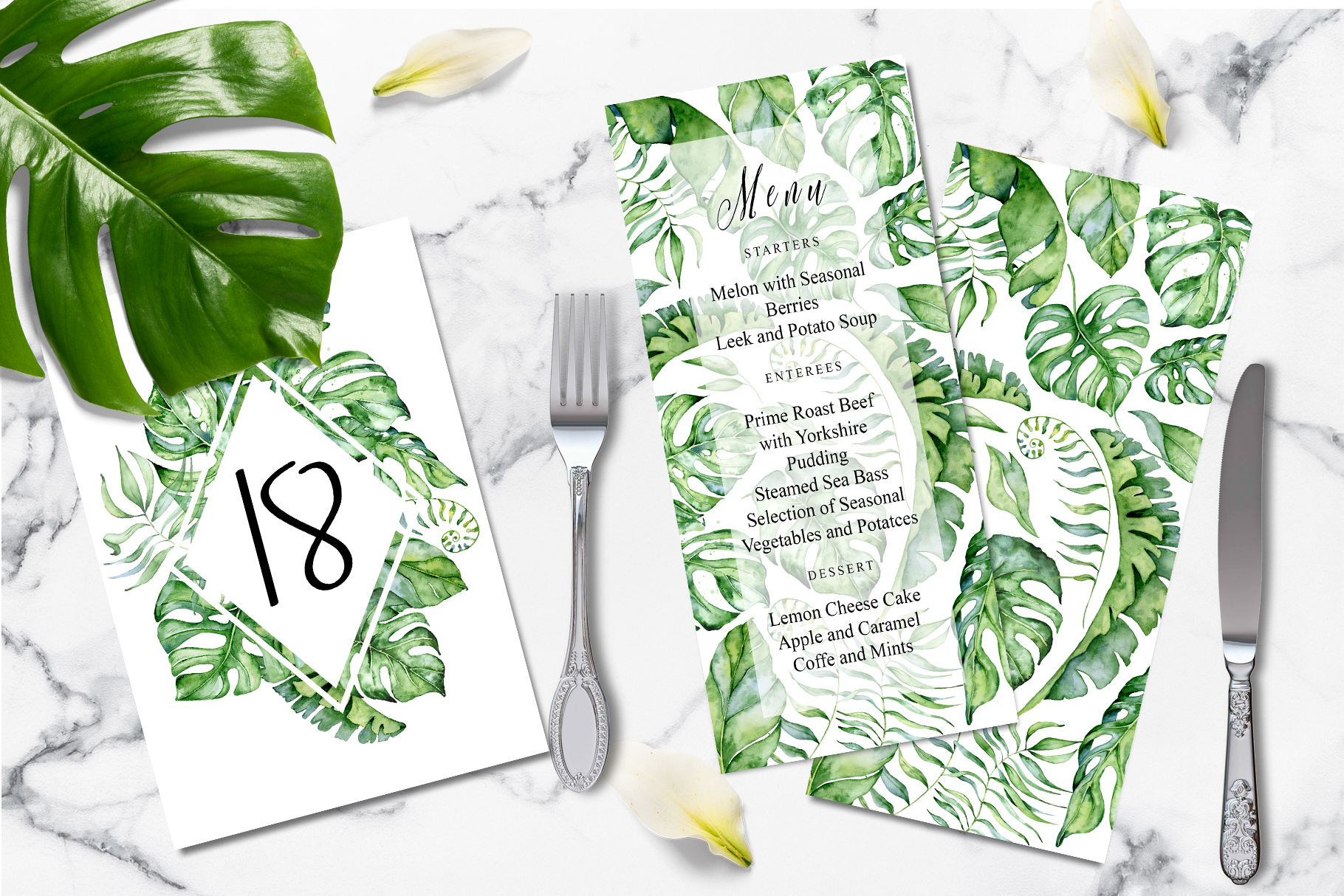 Tropical Greenery Wedding Suit example image 4
