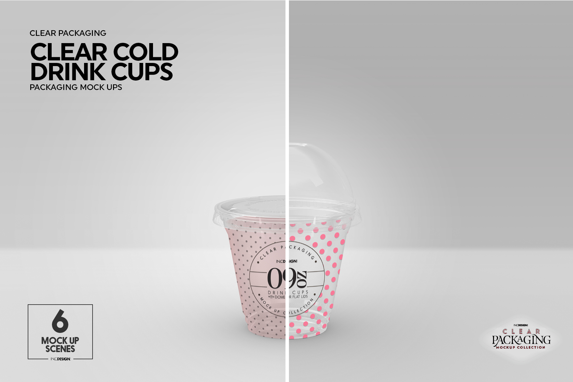 Clear Cold Drink Cups Packaging Mockup example image 10