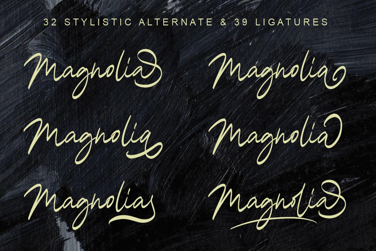 Magnolia A Stylish Calligraphy Font example image 3
