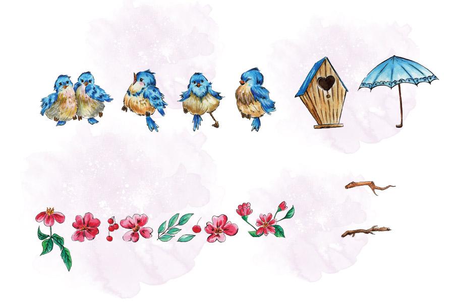 Cherry Blossom Clip Art example image 4