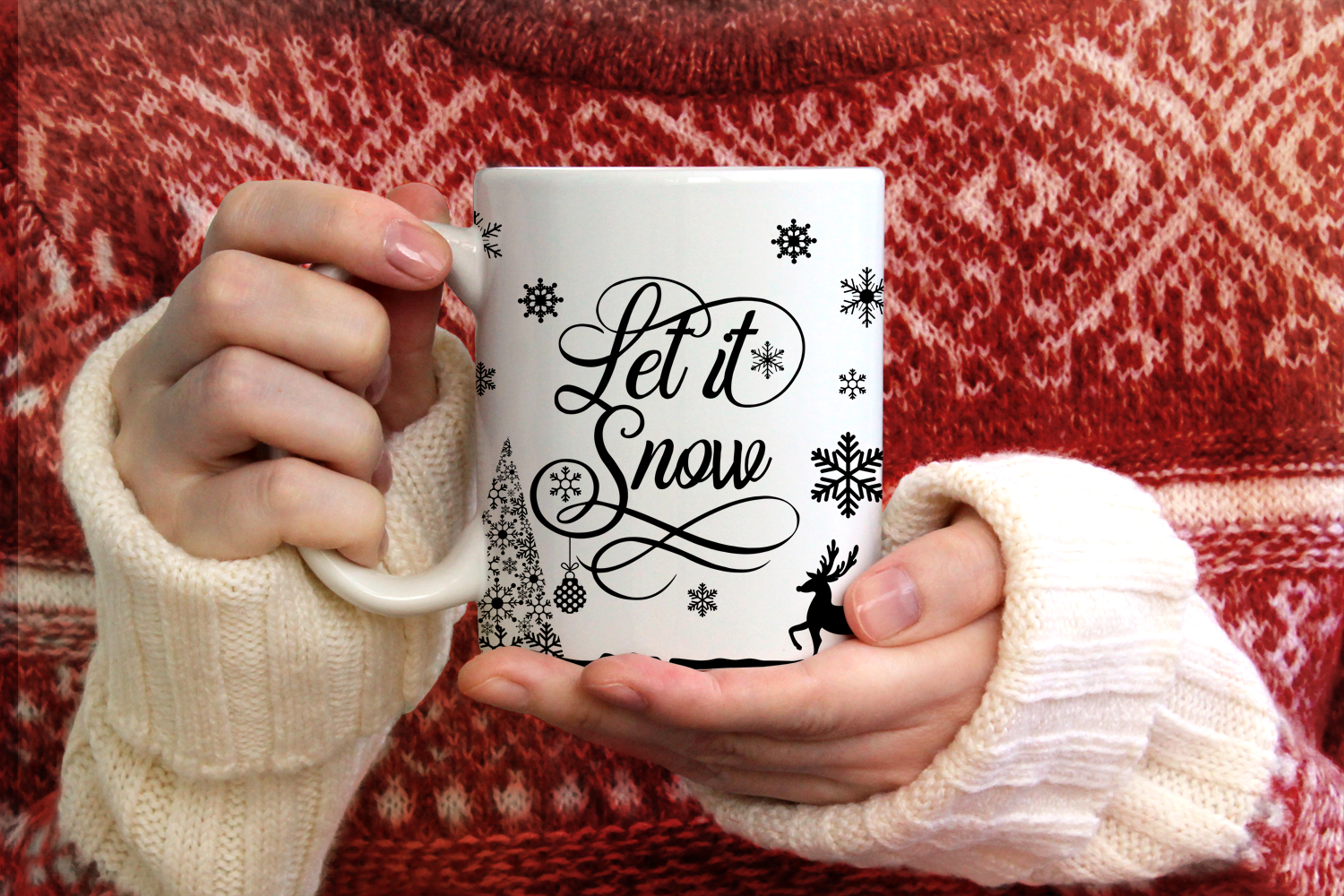 Let it Snow - Christmas SVG Cut File example image 3
