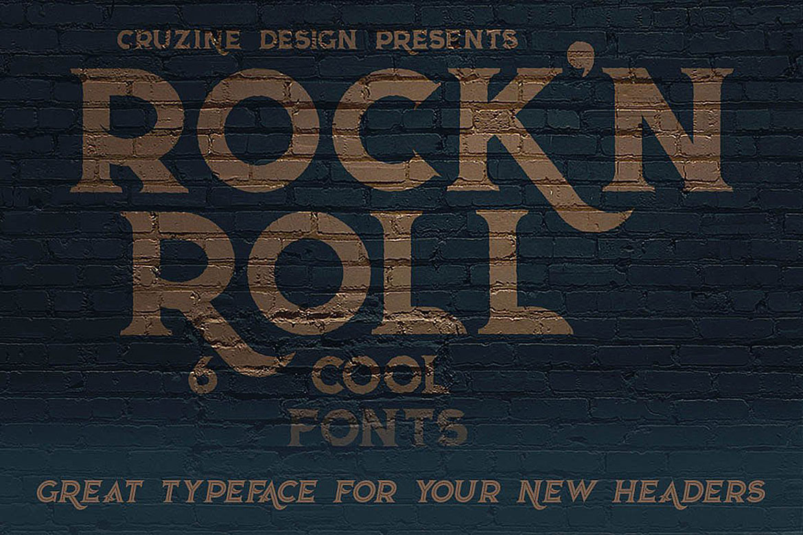 Rock'n Roll Typeface example image 2