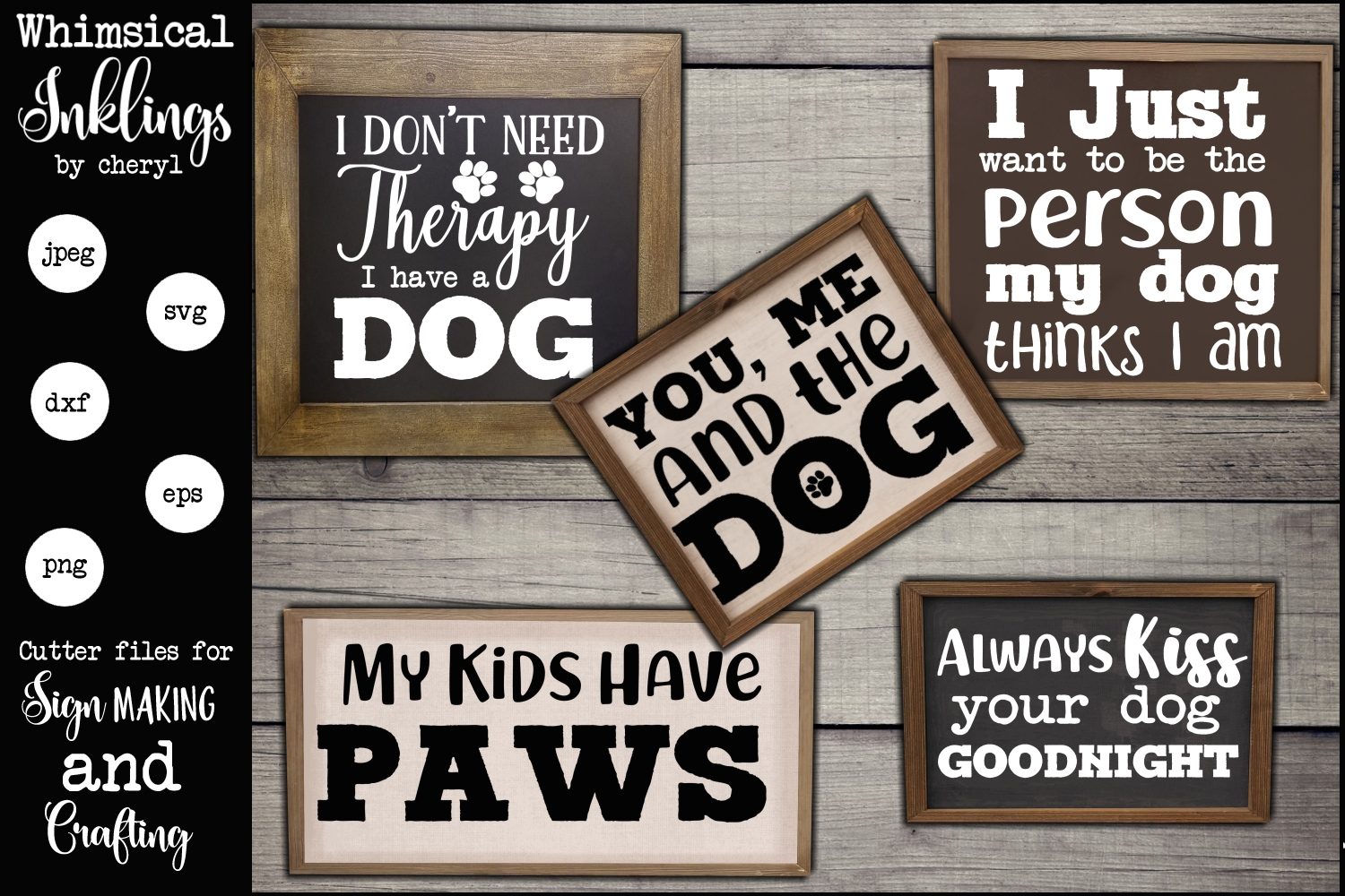 Dog Therapy SVG Set example image 1
