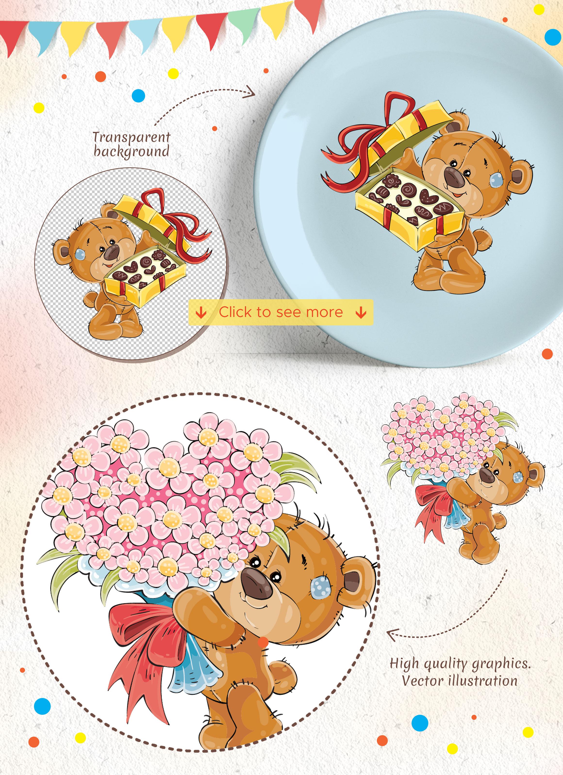 Lovely teddy bears. Happy Birthday. example image 5