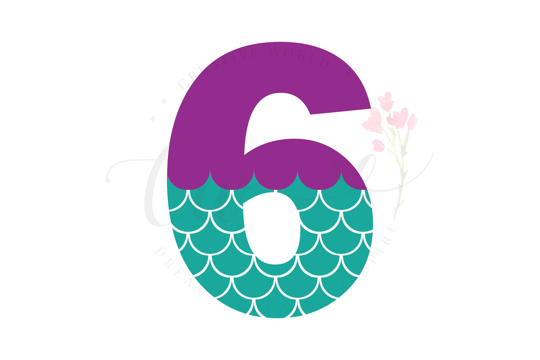 My 6th Birthday Mermaid SVG | Mermaid Birthday Girl svg example image 1