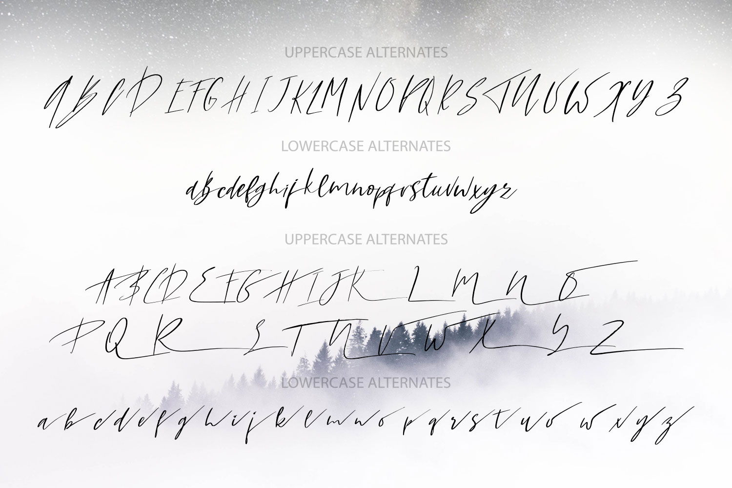 Yellow Star. Textured Signature Script Font example image 8