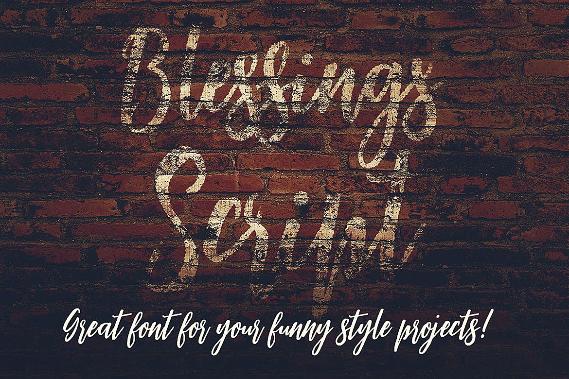 Blessings Script Font example image 6