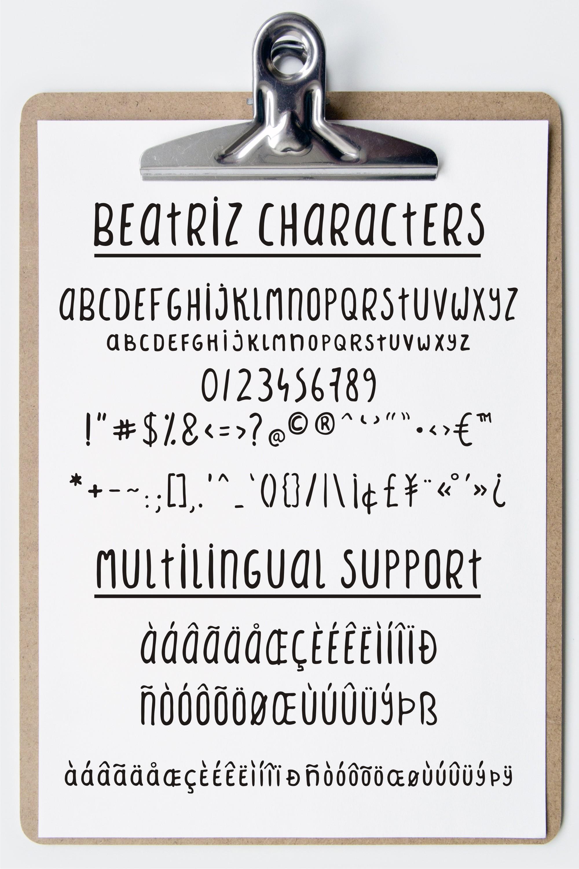 Beatriz sans serif font example image 2